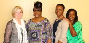 From left: Becky Hartman, Brenda Smith, Latonia Simmons, and Africa Porter